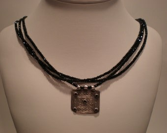 Sparkles like black diamonds - gorgeous faceted black spinel healing ancient design Valentine's Day birthday birth stone gemstones long