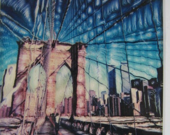 BROOKLYN BRIDGE PRINT, Signed and Numbered, Sculpted Photography