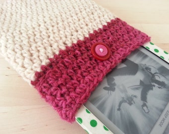 Crocheted eBook Cover in Pink & Cream