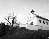 St Clare chapel, Prague photography, Prague in black and white, Prague in spring, black and white church photo, 12x8, giclee print