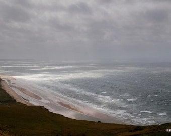 Cote dOpal France, Moody seashore print, Coastal wall art, Sea landscape, Impressionist art, Le Cap Blanc Nez, Minimalist art,
