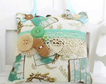 SALE  Cottage chic pincushion