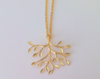 Tree Necklace in Gold
