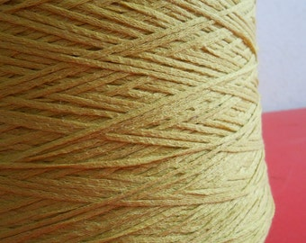 Cotton Yarn Tape Chartreuse Skein 7oz