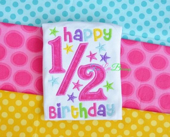 Happy half birthday girl birthday half birthday Baby