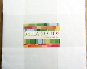 Bella Solids layer cake white from Moda fabric 9900lc 98