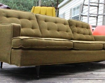 METRO ATLANTA Vintage Mid Century or Danish Modern Sofa or Couch Olive Green MCM