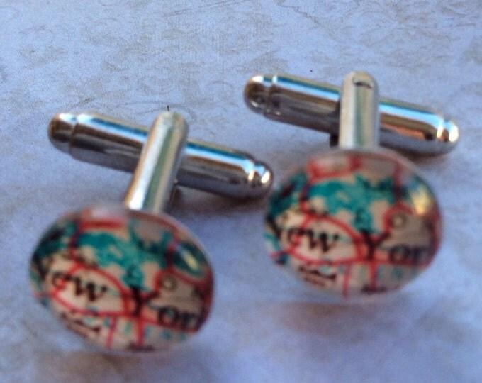 Accessories Men Cufflinks Unisex Map Silver High Quality