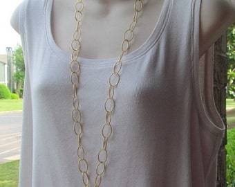 Gold Chain ID Badge Lanyard Twisted Links Chain Lanyard