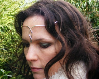 Simple Sterling Silver Elven Style Circlet / Tiara