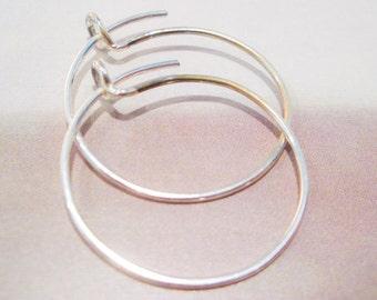The Simple Hoop in Sterling Silver