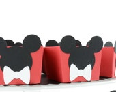 Mickey Mouse Candy Cups, Bow Birthday, Mouse Theme, Red Candy Cups Box