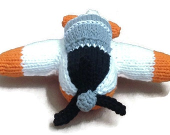 Made to Order: Hand Knit T-6 Trainer Navy Model Toy