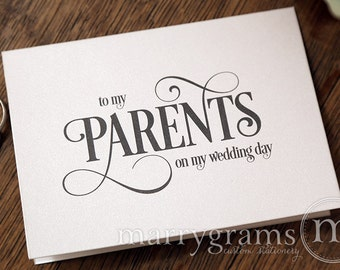 Thank You Gifts For Parents On Wedding Day : ... Cards - To My Parents on My Wedding Day - Thank You Card Gift - CS06