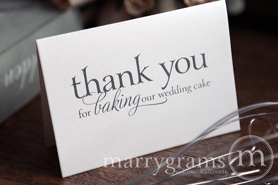 Thank You For Baking: Wedding Card To Your Baker Thank You For Baking Our Wedding