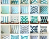 Items Similar To Decorative Throw Pillow Cover Blues 16 X