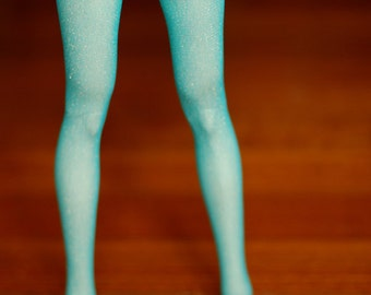 Super Gem EID Turquoise Sparkle Stockings For SD BJD