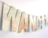 Wanderlust, Travel Theme,Map Banner, Bon Voyage Party, Map Theme, Custom Banner, Nursery Banner,  Vintage Maps, Banner, Travel,Maps