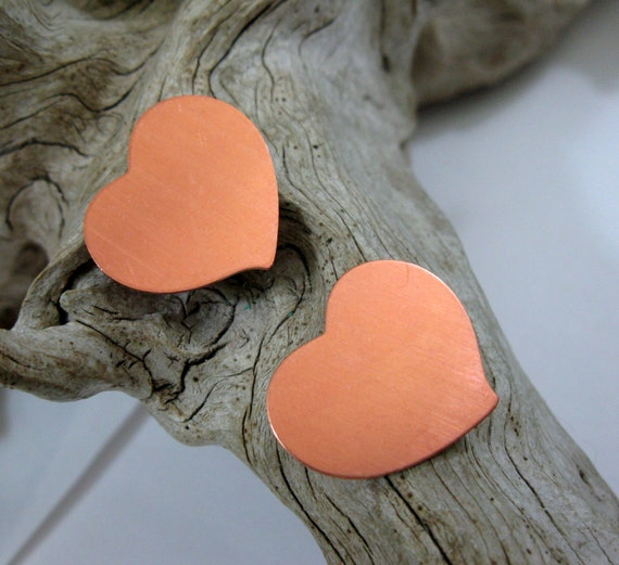 10 COPPER HEARTS for Stamping Hammering Supplies, Ready to Ship!