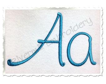 Large Kayleigh Machine Embroidery Font Monogram Alphabet - 3 Sizes