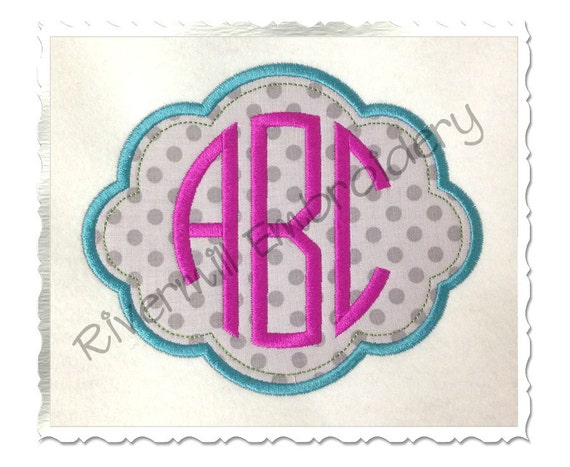 applique name or monogram frame 4 machine embroidery design