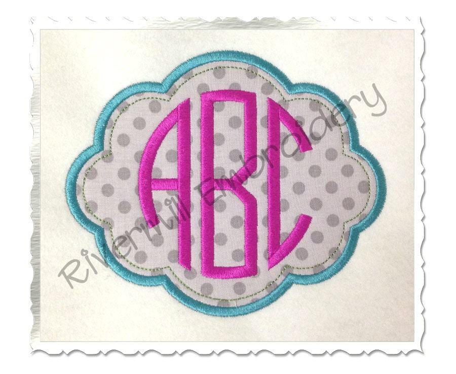Applique Name or Monogram Frame 4 Machine Embroidery Design
