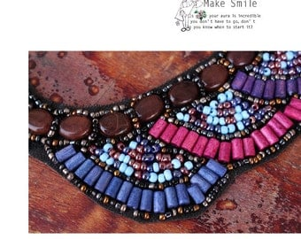 Ethnic colorful bead collar.