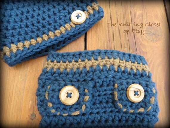 Crochet Diaper Cover Pattern, Crochet Hat Pattern, Newborn ...