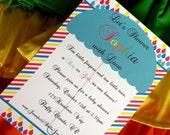 Rainbow Love Birthday Party Baby Shower Printable Invitations