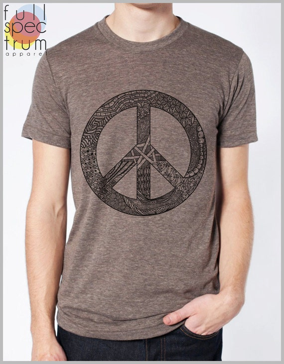 Back to School T Shirt Peace Symbol American Apparel - Unisex XS, S, M, L, XL 9 COLORS  vintage peace sign tee