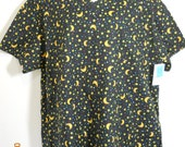Size XL (22-24) Hand Made Scrub Top Halloween Print        REDUCED FROM 25.00