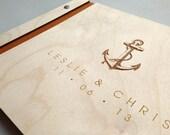 Cape Cod Nautical Anchor Theme Guest Book