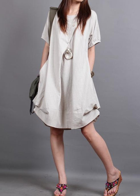 Cotton Summer Summer Dress/ Cotton Pleated