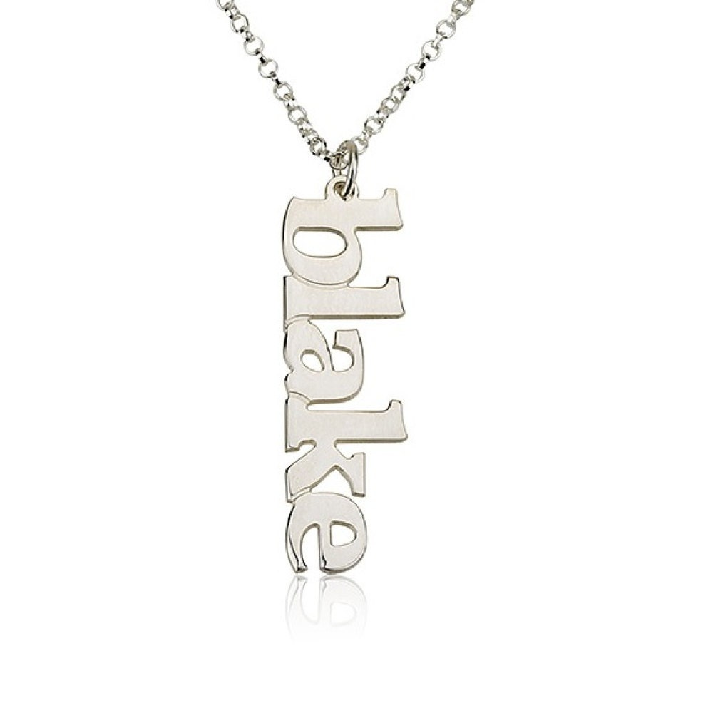 vertical name necklace personalized name by bestpersjewelry