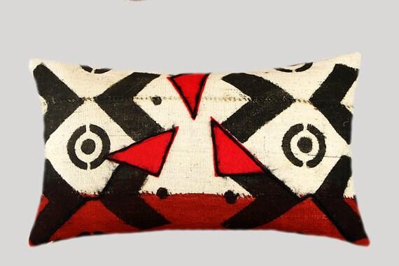 """Abstract Rough Linen, Burlap Lumbar  pillow case, fits 12""""x20"""" insert."""