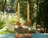 Vintage Candlesticks Myrtlewood From Coos Bay Oregon