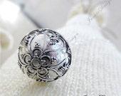 Hearts 16mm Harmony Ball (aka Mexican Bola) Pendant (Necklace)- Mother Necklace ZZ78