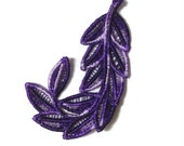 1 Lace Feather, Perfect for Wedding Favors, Ornament, Tag for Gift Box (H)
