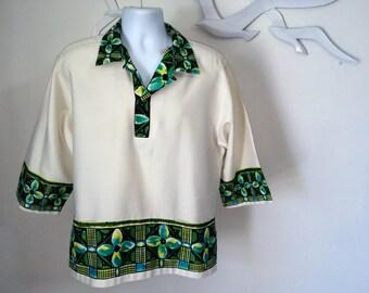 RARE Reyn's Vintage Men's Hawaiian Shirt Reyn Spooner Aloha Shirt 60s 1960 Tiki Hawaii Tribal Tiki Oasis VLV Viva Las VegasL XL Extra Large