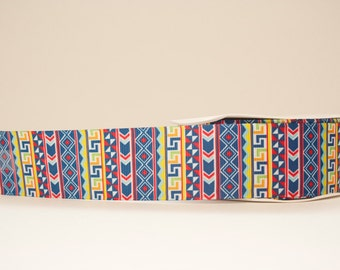 Aztec Geometric Tribal Print Extra Wide 1.5in Grosgrain Ribbon - 1yd
