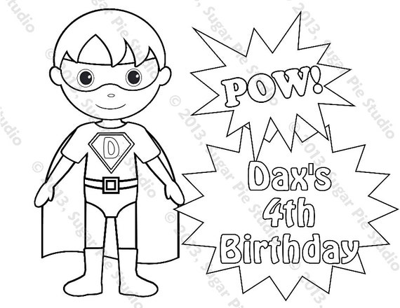 boy superhero coloring pages - photo#14