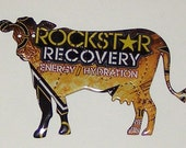 Cow Magnet - Rockstar Energy Drink Can