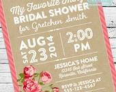My Favorite Things Bridal Shower Invitation