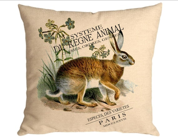 Rabbit French decor Animal instant digital download image for iron on burlap transfer Create a designer pillow Tote bags Cards No. C31