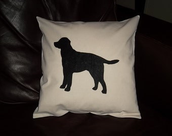 Black Lab pillow 14X14 pillow form included