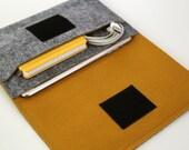 mini iPad Sleeve / mini iPad Case / mini iPad Bag / iPad mini cover - Gray & Fulvous - Weird.Old.Snail