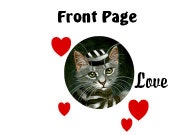Front Page Love Love Love - Words for Digital Download Only