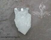 Raw Clear Quartz Gemstone Crystal Point 46mm x 27mm (RCQP0001)
