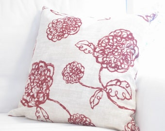 floral throw pillows, red floral pillows, floral couch pillows covers, floral accent pillow covers, pillow covers, red decorative pillows