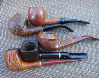 Lot of five Medico pipes